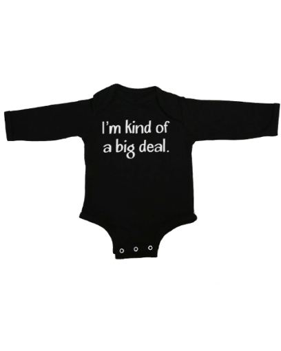 kind of a big deal baby black long sleeve