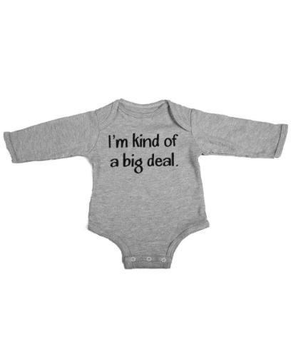 kind of a big deal baby grey long sleeve