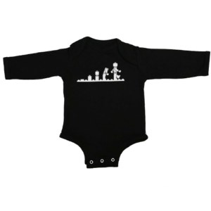 lego evolution baby black long sleeve