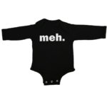 meh baby black long sleeve