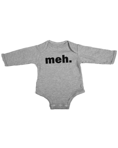 meh baby grey long sleeve