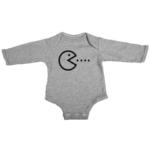 pacman baby grey long sleeve