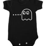 pacman ghost baby black