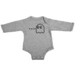 pacman ghost baby grey long sleeve