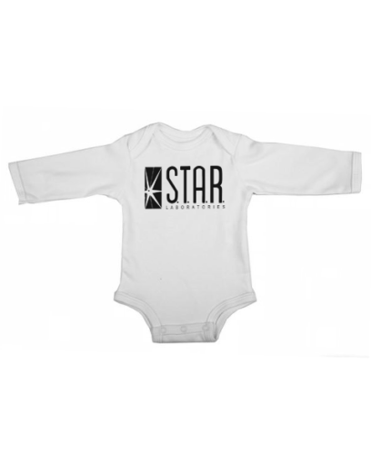 star labs baby white long sleeve