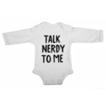 talk nerdy to me baby white long sleeve